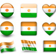 The Niger flag - Stock Photo