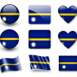 The Nauru flag - Stock Photo
