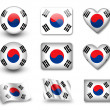 The South Korea flag - Stock Photo