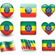 The Ethiopia flag - Stock Photo