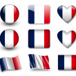 Stock Photo: The French flag