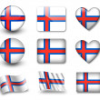Stock Photo: Faroe Islands flag