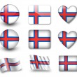 The Faroe Islands flag — Stock Photo