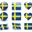Swedish flag — Stock Photo #9020215