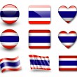 The Thai flag - Stockfoto