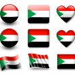 The Sudan flag - Stockfoto