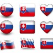 The Slovakia flag - Stockfoto