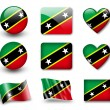 Saint Kitts and Nevis flag — Stock Photo #9020372