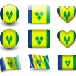 Saint Vincent and Grenadines flag — Stock Photo #9020381