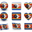 The Swaziland flag - Stockfoto