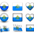 The San Marino flag - Stockfoto