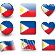 The Philippines flag - Stockfoto