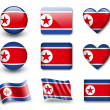 The North Korea flag - 