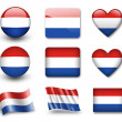 Netherlands flag — Stock Photo #9020462