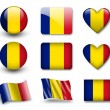 The Romania flag - Stockfoto