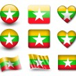 Stock Photo: Myanmar flag