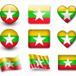 The Myanmar flag — Stock Photo