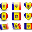 The Moldovan flag - Stock Photo