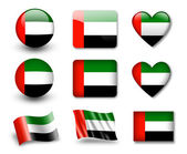 The UAE flag — Stock Photo
