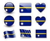 The Nauru flag — Stock Photo
