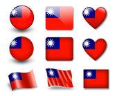 The Taiwan flag — Stockfoto