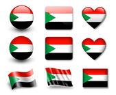 The Sudan flag — Stock Photo