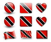 The Trinidad and Tobago flag — Stock Photo