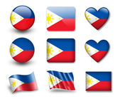 The Philippines flag — Stock Photo