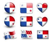 The Panama flag — Stock Photo