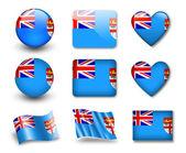 Die flagge fidschi — Stockfoto