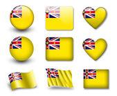 Niuean vlajka — Stock fotografie