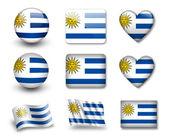 The Uruguayan flag — Stock Photo