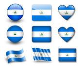The Nicaragua flag — Stock Photo