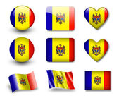 The Moldovan flag — Stock Photo
