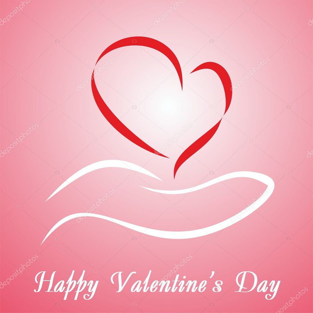 Valentine's Day card with greetings. Vector  Stock Vector #8082744