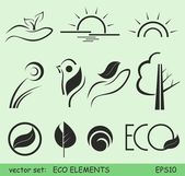 Eco elements — Stock Vector