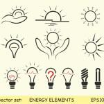 Energy elements — Stock Vector