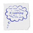 Stock Vector: Cloud e-learning