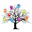 Royalty-Free Stock Vector Image: Tree with social media icons