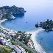 Taormina beach with 'Isola Bella' in Sicily, Italy. — Stock Photo