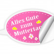 Royalty-Free Stock Imagem Vetorial: Mothers day button - German language