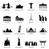 Sevärdheter ikoner — Stockvektor