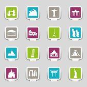 Top sights sticker — Stock Vector