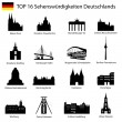 Illustration - Top 16 germany architecture — Stock Vector #10643243