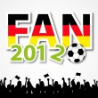 Soccer Fan 2012 — Stock Vector