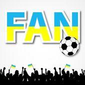Fan Ukraine — Stock Vector