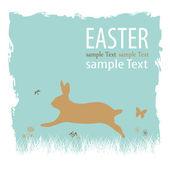 Happy easter bunny — Stockvector
