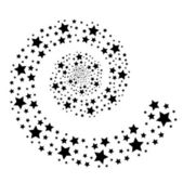 Stars on white — Stock Vector