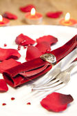 Place setting for valentines day — ストック写真