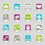 iconos web parte 1 — Vector de stock